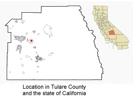 Map to Location in Tulare County