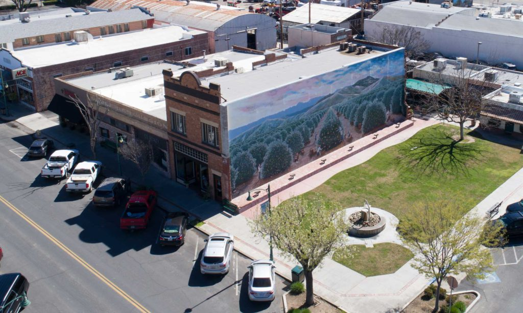 Exeter Aerial of Park and Mural