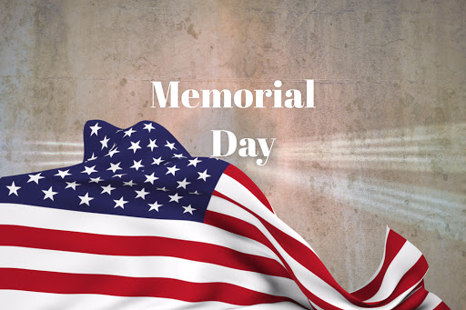 Memorial Day Holiday Flag
